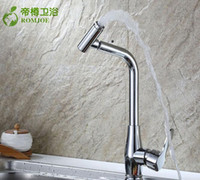 Wholesale Faucet Can Rotate Hot And Cold Water Tap In The Kitchen Single Copper Alloy Mix Faucet