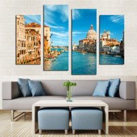 beautiful house painting - Frameless Panel Beautiful Watery City Large Hd Picture Modern Home Wall Decor Canvas Print Painting For House Decorate Art Decor Party