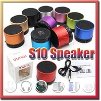 audio reader free - S10 Bluetooth Speaker Outdoor Speakers Handfree Mic Stereo Portable Speakers TF Card Call Function DHL No Logo In Retail Box
