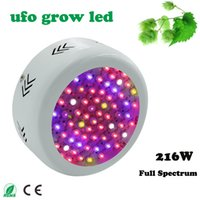 Wholesale Full Spectrum MINI UFO High Power AC85 V W Red Blue warm white white IR UV LED Grow Lights for Hydroponics Flowers