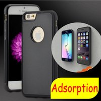 Wholesale For iphone7 plus Anti gravity Case Hybrid Magical Nano Stick On The Wall PC TPU Cover Case For iphons6 Splus S Samsung S7 S6 NOTE5 NOTE7