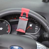 Wholesale Universal Car Steering Wheel Phone Holder Mount Bracket Rubber Band CDE_30G
