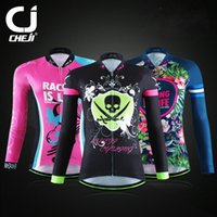 Wholesale Drop Shipping Ladies Cycling Jersey Long Sleeve Comfortable Bicycle Jacket Skinsuit Ropa Ciclismo Factory Direct Sales