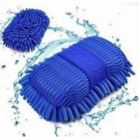 auto hand cleaner - Car Wash Auto Hand Towel Microfiber Washing Gloves Coral Car Cleaning Sponge Microfiber Car Wash Gloves For Car Cleaning Motorcycle
