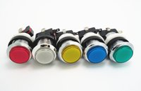 arcade machine buttons - 12 of silver plated lighted button Illuminated Push Button with microswitch for arcade game machine colors for choosing