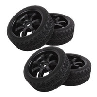 Wholesale RC Flat Racing Tires Tyre Wheel Rim Fit HSP HPI On Road Car
