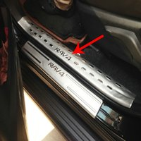Wholesale For Toyota RAV4 Stainless Steel Inner Door Sill Scuff Plate Top Welcome Pedal Threshold Strip Car Styling Accessories