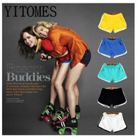 Wholesale YITOMES Shorts Yoga pants shorts summer women Korean style female home cotton candy color women s shorts DHL freeship