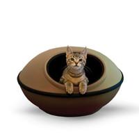 Wholesale Pet Dream Pods Cat Hooded Bed Cat Cave Hideout House Tan Black