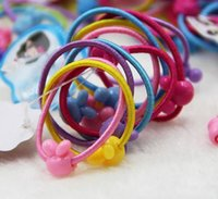 Wholesale 100 High Quality Carton Round Ball Kids Elastic Hair Bands Elastic Hair Tie Children Rubber Hair Band