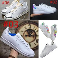 elastic band for shoes - Drop shipping Colors Stan Smith Shoes For Men And Women Fashion Sneakers Casual Sport Leather Lovers Shoes Running Skate shoe
