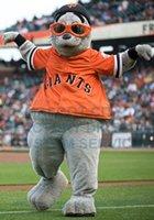 baseball mascot - Giants Lou Seal Mascot Costume Adult Baseball Sport Theme Seal Cartoon Character Mascotte Fancy Dress Kits for Carnival Party