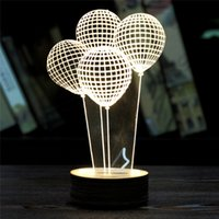abs unique gift - PC Balloon D Unique Lighting Effects Optical Illusion Home Decor LED Table Lamp Great Children Kids Gift supply on sale