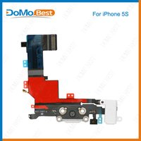 audio ribbon - Original Dock Connector USB Charging Port and Headphone Audio Jack Flex Cable Ribbon for iPhone s Black or White