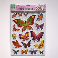baby butterflys - Free DHL Color Butterfly Decoration Three dimensional Wall Stickers Butterflies EVA D Removable Wall Stickers Butterflys Baby Decor
