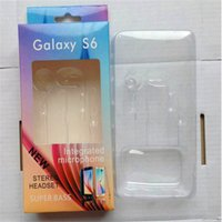 Wholesale S6 Earphone Paper Box Package Empty Boxes Packaging For Samsung Galaxy S4 S5 S7 note Headset Retail Package Packing