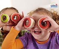 Wholesale Educo Wooden Toys Wood Phantoscope Polygon Prism Kaleidoscope Children Educational Toys Classic Toy Gift