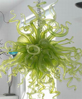 beautiful green rooms - LR130 Energy Saving Green Colored Beautiful Flower Design Murano Glass Custom Made Chandelier for Hotel Decoration