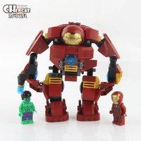 armor hero - super hero Iron Man block The hulk armor Minifigures Building Blocks Batman Avengers Hulk armor blocks