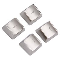 Wholesale Cool Metal Zinc Up Down Left Right Key Caps Mechanical Keycap Keyset Silver