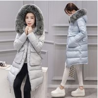 Wholesale 2016 for shop Cheap womens winter jackets and coats long thick big faux fox fur winter jacket women coat pocket plus size parka