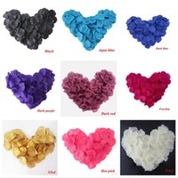 wedding rose petals cheap - 2016 Cheap Top quality Silk Rose Flower Petals Leaves Wedding Decorations Party Festival Table Confetti Decor Many color