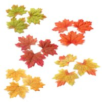 autumn leaves decor - 1000Pcs Multicolor Artidicial Cloth Maple Leaves Autumn Fall Leaf Art Scrapbooking Wedding Bedroom Wall Party Decor Craft