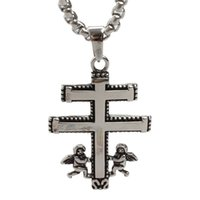 angels bible - Retro Mens l stainless Steel Metal Pendant Christian Bible Gospel Angels Antique Cross Necklace Religious Organization Easter day gift
