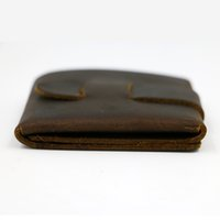Wholesale Creative Wallet the first layer of mad cowhide wallet leather wallet short mini hand bag Holiday gifts
