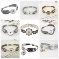 antique silver jewelry box - Fashion Noosa Snap Bracelet DIY Jewelry Bangles Antique Silver Magnetic Clasp Flower Pattern Bracelet Styles