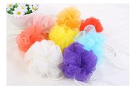 Wholesale High Quality Mesh Pouf Sponge Bathing Spa Shower Scrubber Ball Colorful Bath Brushes Sponges