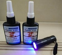 Wholesale Genuine g kafuter K UV glue portable uv flashlight PMMA acrylic adhesive bonding transparent plastic PVC ABS metal