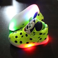 baby patent shoes - New Fashion Lighted up LED kids sneakers Elegant Lovely baby boys girls shoes boots hot sales cool children shoes