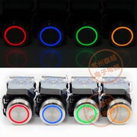 Wholesale LA38 E LED Indicator Push Button Switches Waterproof Stainless Steel NO NC mm Momentary Switch Self Locking or Self Reset