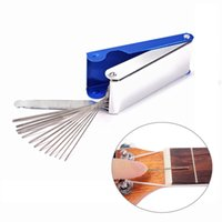 Wholesale Lulither Tool size a set guitar saddle and nut polish tools for guitar bass violini