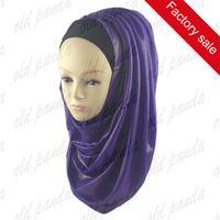 arab hijab hot - Hot Sale Fashion Shimmer Glitter Shiny Chiffon Scarf Malaysia Muslim Arab Hijab Scarf Many Colors