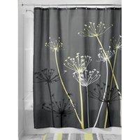 bathroom curtain patterns - Dandelion Pattern Waterproof Polyester Bathroom Shower Curtain with Hooks