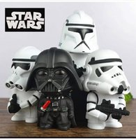 Wholesale Money Box Star Wars Action Figure Black Knight Darth Vader Stormtrooper cm Figures Collection Brinquedos Kid Toy Figura Model with origin