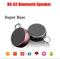 aluminium mobile - DHL High Quality Super Bass BS02 Bluetooth Speaker Aluminium Shell BS Waterproof Speaker For Smartphone