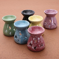Wholesale Top Quality Ceramic Fragrance Oil Burners Lavender Aromatherapy Scent Candle Essential Gift Incense Burners