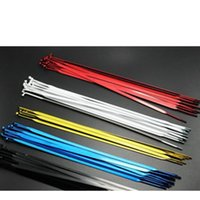 Wholesale 20pcs Flat Spoke mm Width J bend Flat Bicycle Spokes with Iron nipples Bike Accessories Black White Blue Gold Red