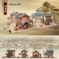 Wholesale 3D Chinese Traditional Architecture Kids DIY Paper Handworks
