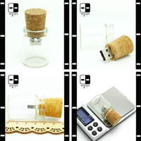 Wholesale Custstomized Small Glass Bottle G USB Flash Drive for VIP Customer