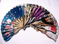 antique black paint - Chinese silk hand fan flower painted silk fan folding tortuous dragon shape bamboo handle fine arts and crafts mixed styles