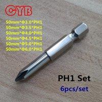 Wholesale 6pcs set High quality Magnetic Phillips Screwdriver S2 Steel quot Hex Shank mm Long Cross Screwdriver mm PH1 Home Garden