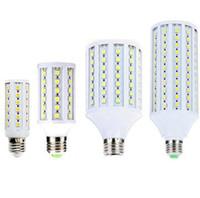 Acheter E27 ce smd-12V LED Lampada E27 12W 15W 18W 20W 6W 8W 5050 SMD maïs Ampoules Bombilla blanc chaud blanc froid pour l'éclairage intérieur Spotlights DC 12 Volts CE