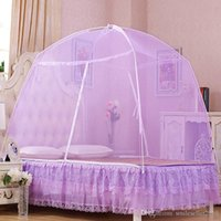 Wholesale Hot Sales Summer Mongolian Yurt Mosquito Net Portable Bed Curtain Fine Mesh Mosquito Nets for Double Bed with Zipper Double Door JQ0043