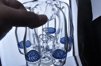 arm photos - Two color blue green arms Bongs glass real photo glass bongs bong water pipe two function with recycler oil rig herb bowl