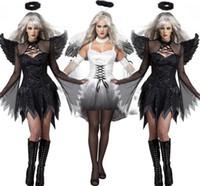 banshee movie - female angel wings Halloween Costume devil Theme Costume Devils banshee ghost Mummy bridal wear sexy women dresses