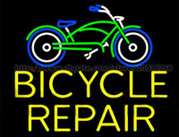 bicycle repair service - Bicycle Repair Handcrafted Neon Sign Real Glass Tuble Light Bike Store Display Sign Shop Service Advertisement Sign quot x24 quot